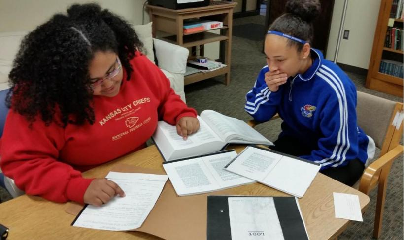 HBW staff Crystal Bradshaw and Kierstin McMichael hard at work